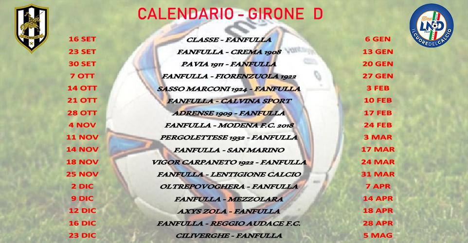 Calendario Campionato Di Calcio.Il Campionato Del Guerriero Il Calendario