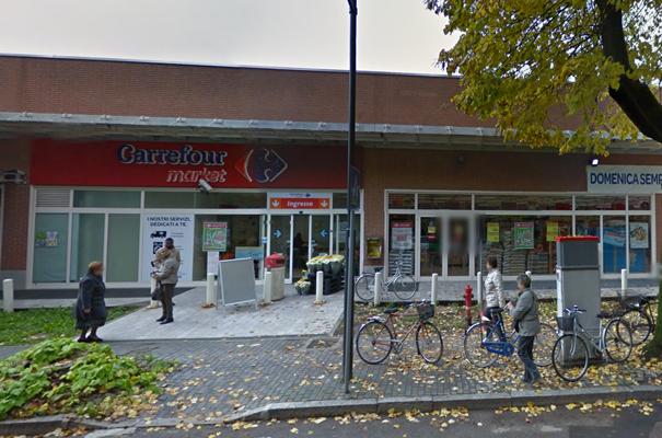 Il punto vendita Carrefour di viale Italia a Lodi