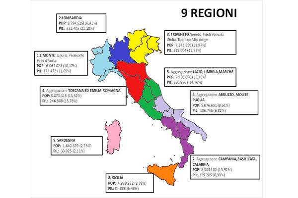 Cartina Italia Regioni E Confini.Presenta Proposta Revisione Confini Regioni Italiane