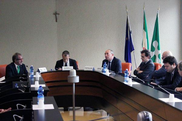 Un momento della riunione della Commissione Antimafia