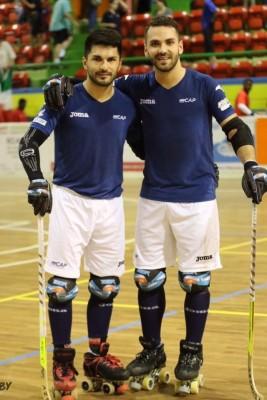 Franco e Matias Platero sorridono dopo aver conquistato la Coppa delle Nazioni di Montreux (Mirabile)