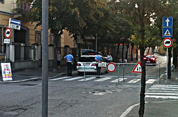 La Polizia Locale transennano il secondo tratto del Borgo Adda