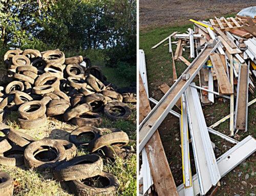 Lettere – Gomme e legname abbandonati lungo la SP 115